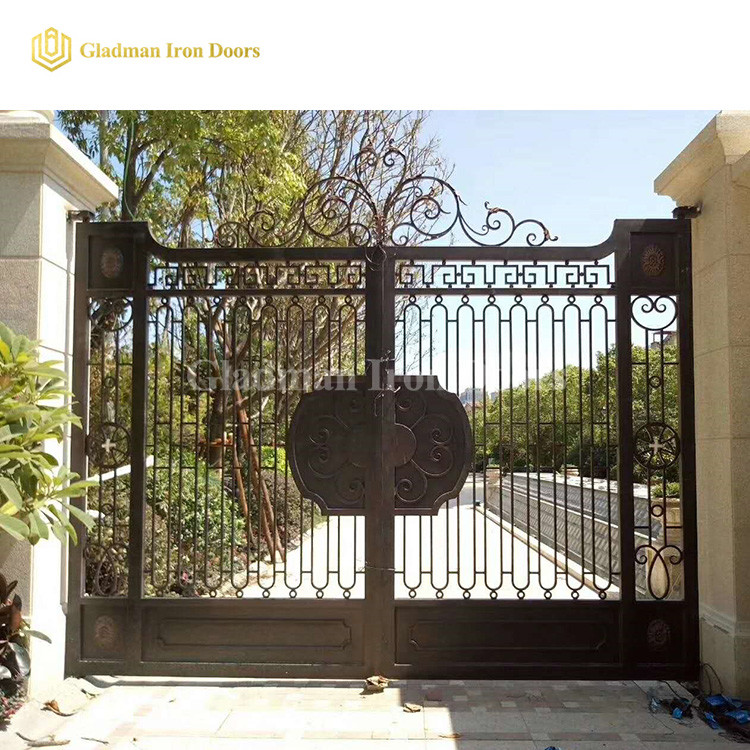 Luxury Double Door Garden House Main Gate Designs IG-01