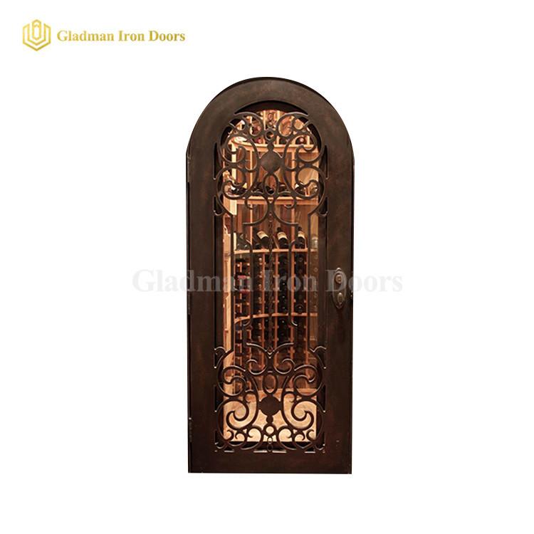Wrought Iron Wine Cellar Door Wd-03