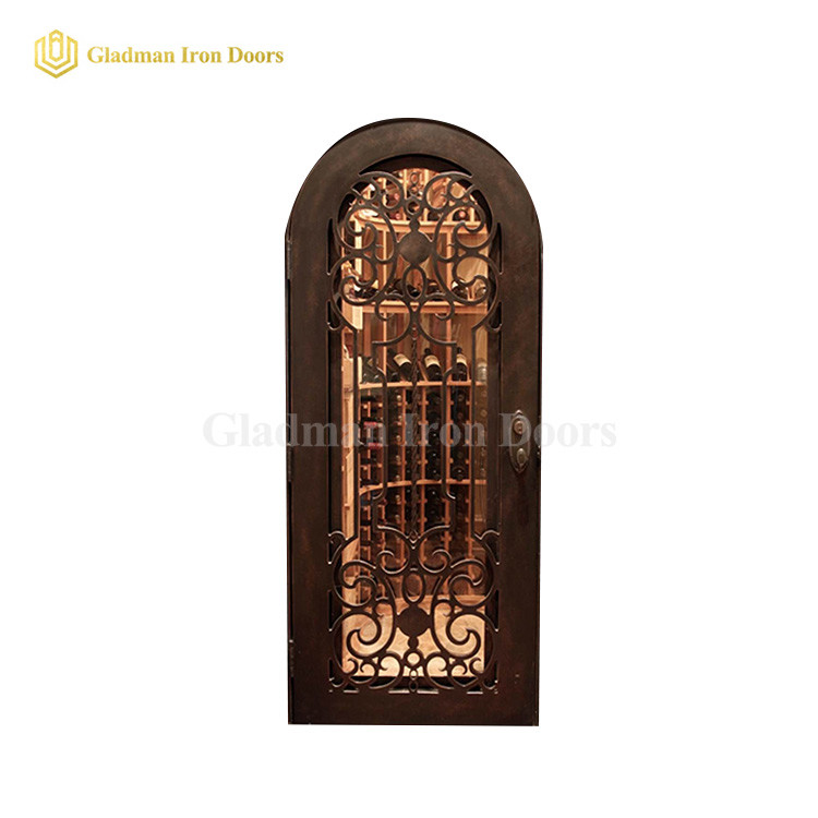 Wrought Iron Wine Cellar Door Wd-03