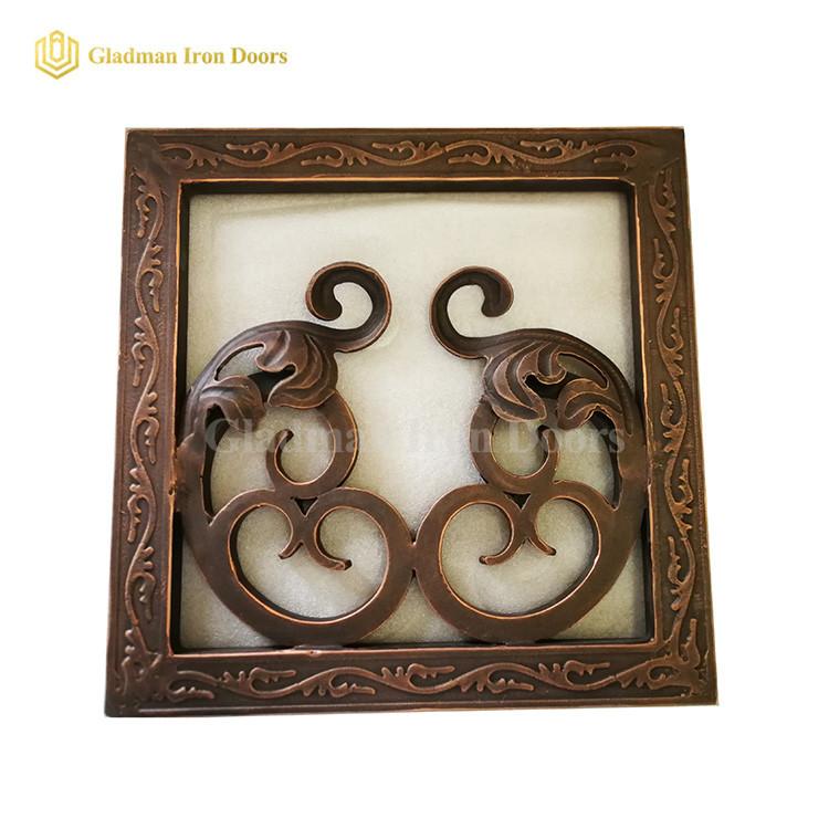 Wrought Iron Exterior Door Hardware Brass W Subtle Copper Edges