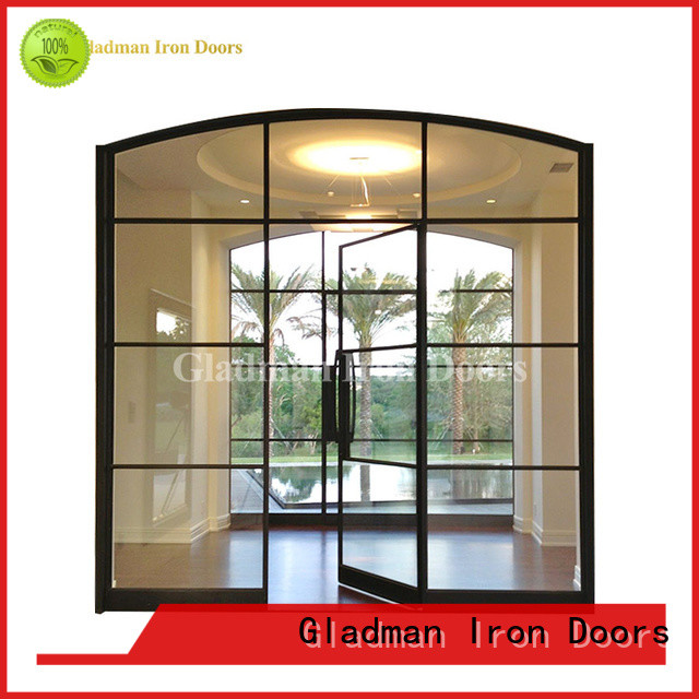 luxury interior double french doors one-stop services for living room