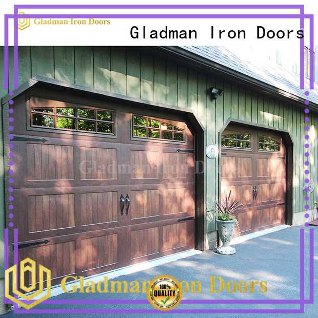 Gladman metal garage door supplier for shed