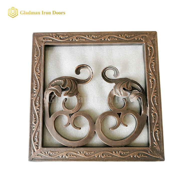 Wrought Iron Exterior Door Hardware Brass