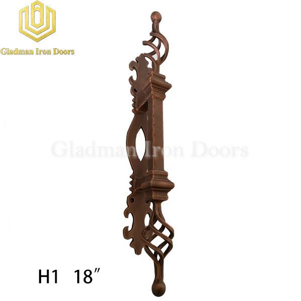 Wrought Iron Front Door H1 Pull Handle