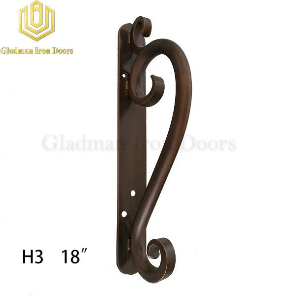Wrought Iron Front Door H3 Pull Handle