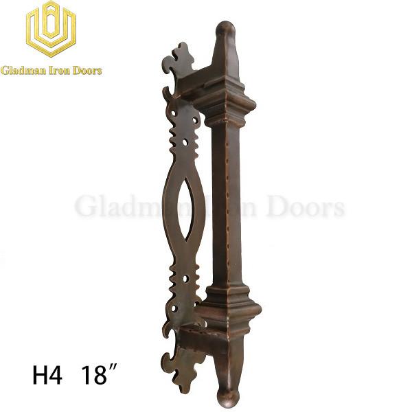 Wrought Iron Front Door H4 Pull Handle
