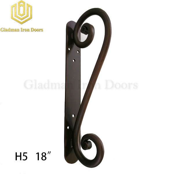 Wrought Iron Front Door H5 Pull Handle