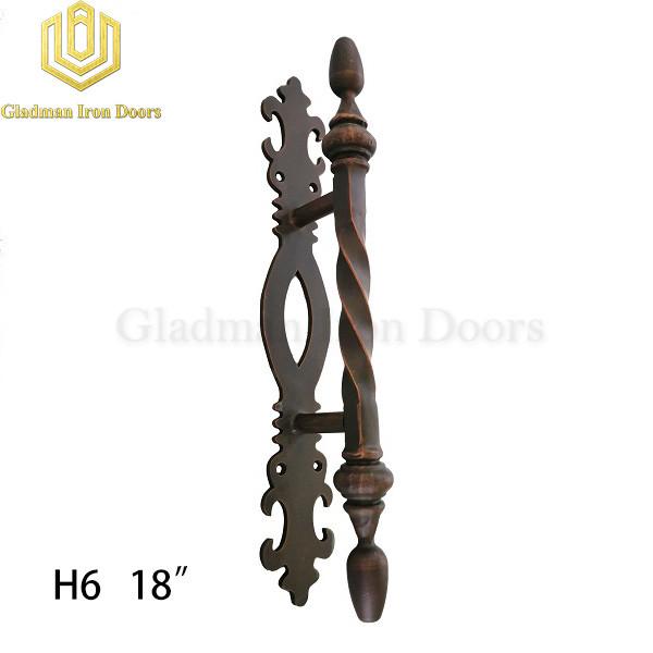 Wrought Iron Front Door H6 Pull Handle