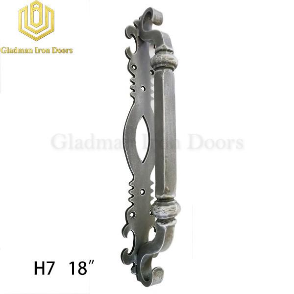 Wrought Iron Front Door H7 Pull Handle