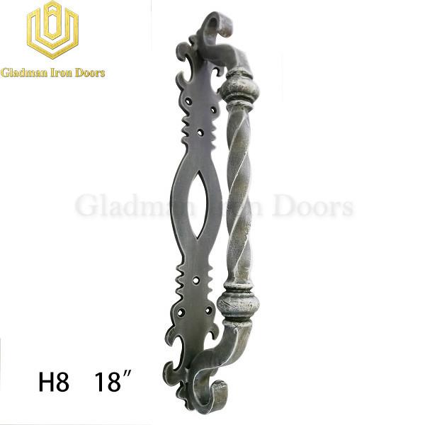 Wrought Iron Front Door H8 Pull Handle