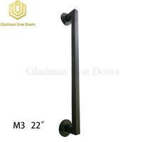 """Wrought Iron Front Door M3 22"""" Pull Handle"""