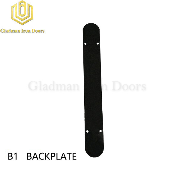 Wrought Iron Front Door B1 Backplate