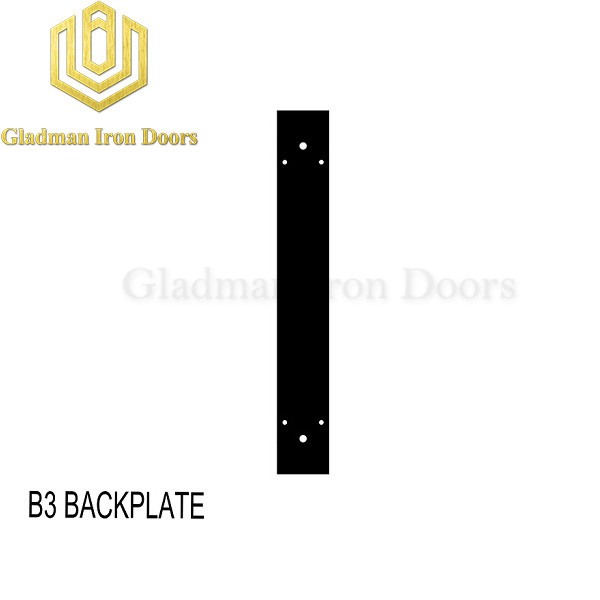 Wrought Iron Front Door B3 Backplate
