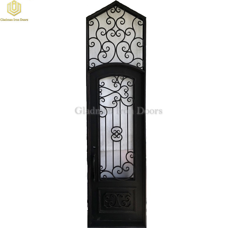 Triangle Top Wrought Iron Door Single Gate Design