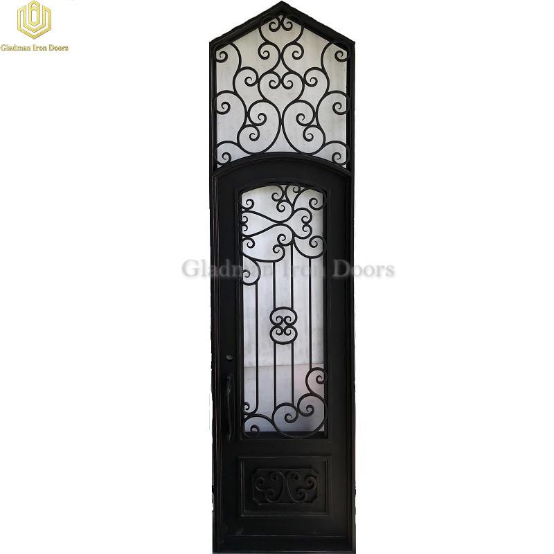 Triangle Top Wrought Iron Door Single Gate Design