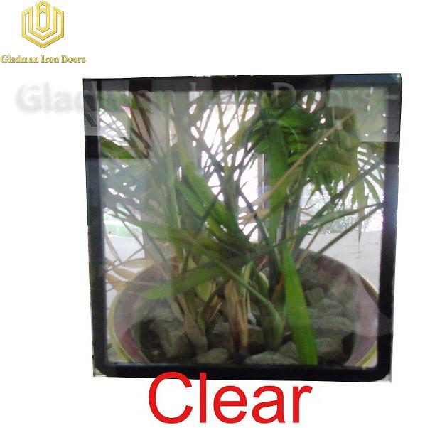 Custom Wrought Iron Door Clear Glass