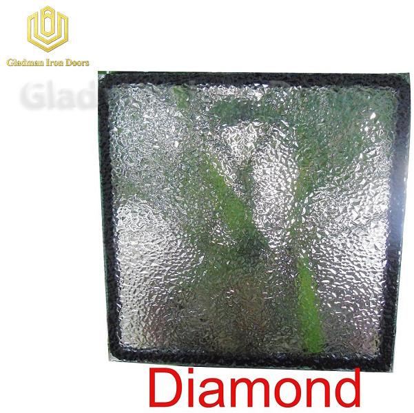 Custom Wrought Iron Door Diamond Glass