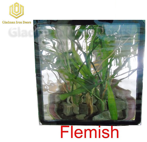 Custom Wrought Iron Door Flemish Glass