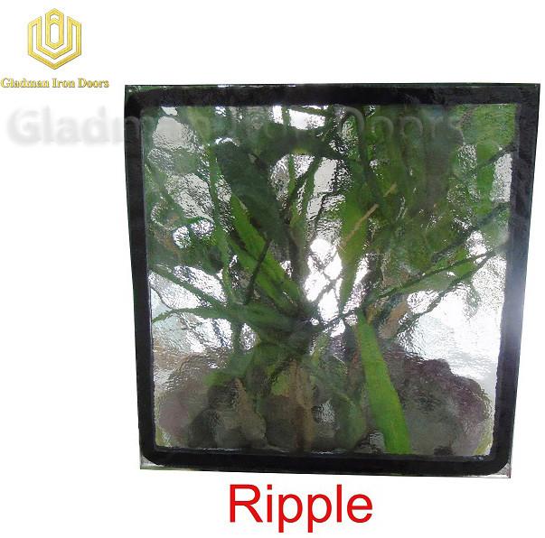 Custom Wrought Iron Door Ripple Glass