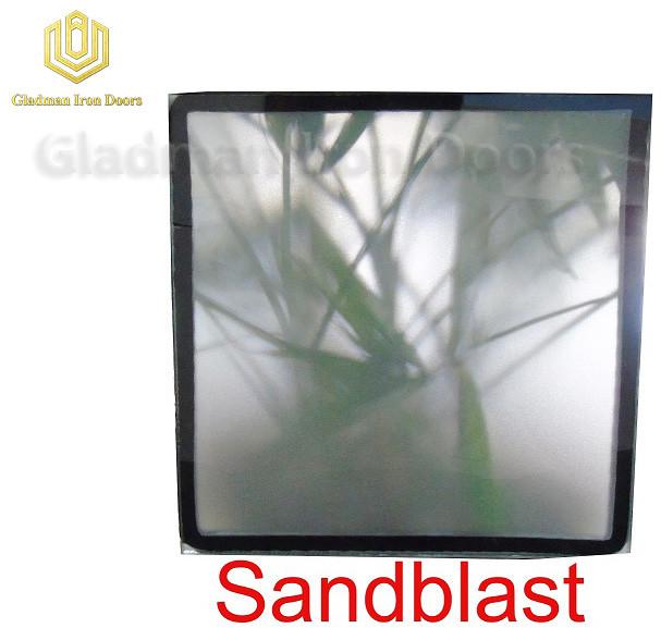 Custom Wrought Iron Door Sandblast Glass