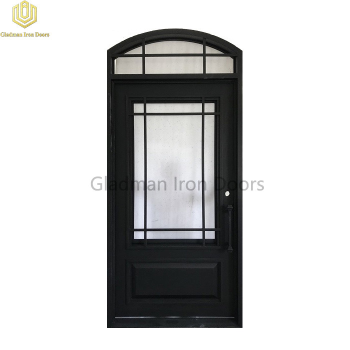 Eyebrown Top Wrought Iron Door Single Gate Design