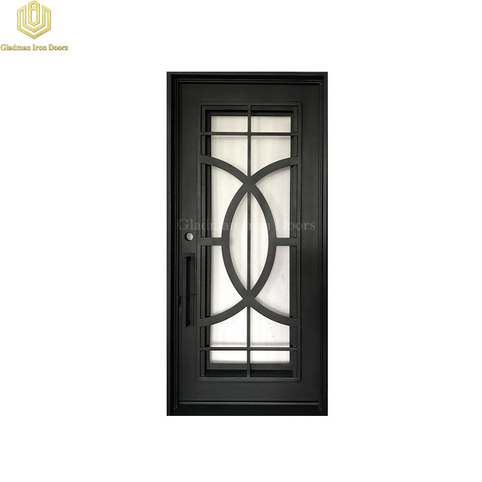 Square Top Wrought Iron Security Front  Door Single Gate Design