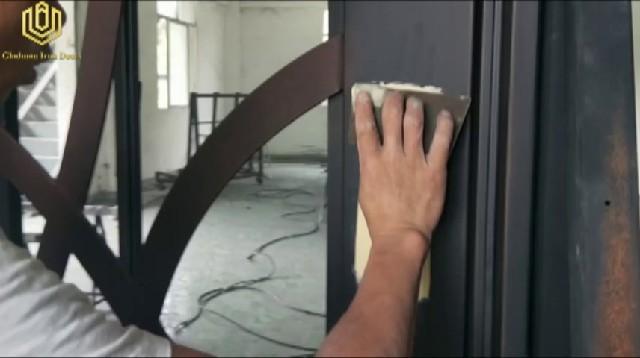 GLADMAN IRON DOORS | How to fix scratches