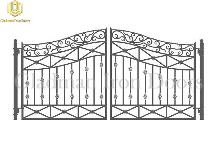 Galvanized Steel Gate DUBLIN Style Modern Gate Anti-rust GS-01