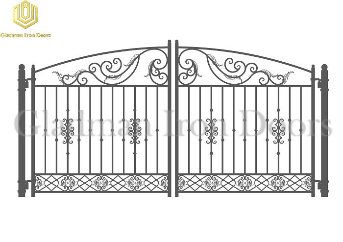 Galvanized Steel Gate DUBLIN Style Modern Gate Anti-rust GS-02