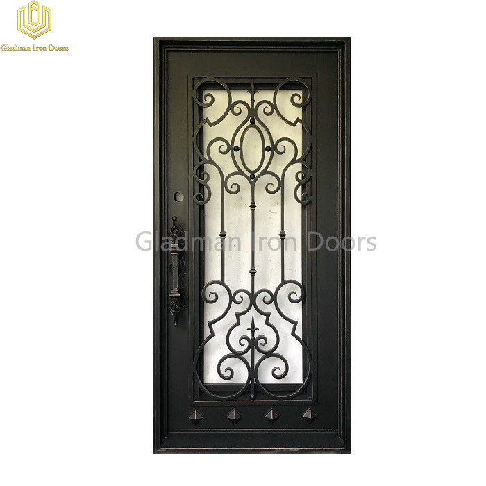 Square Top Aluminum Door Single Gate Design