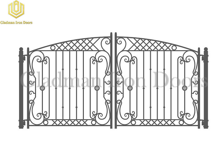 Galvanized Steel Gate PARIS Style Modern Gate Anti-rust GS-05