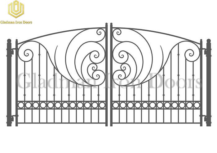 Galvanized Steel Gate PARIS Style Supplier New Technology Iron Gate SG-06