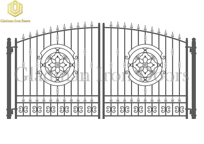 Galvanized Steel Gate PARIS Style A Circle On Each Side SG-07