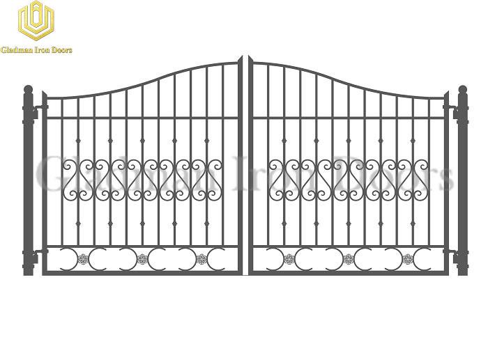 Galvanized Steel Gate DUBLIN Style Modern Gate Anti-rust GS-09