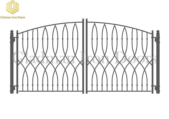 Galvanized Steel Gate PARIS Style Double Gate Anti-rust GS-11