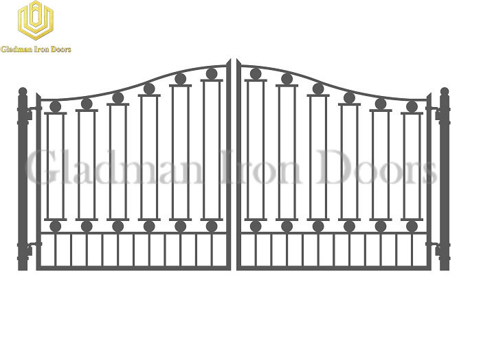 Galvanized Steel Gate DUBLIN Style Grill Design Wrought Iron Anti-rust GS-12