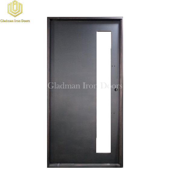 Single Pivot Door With Tempered Clear Glasses /Lantern With Brass /Iron Materials