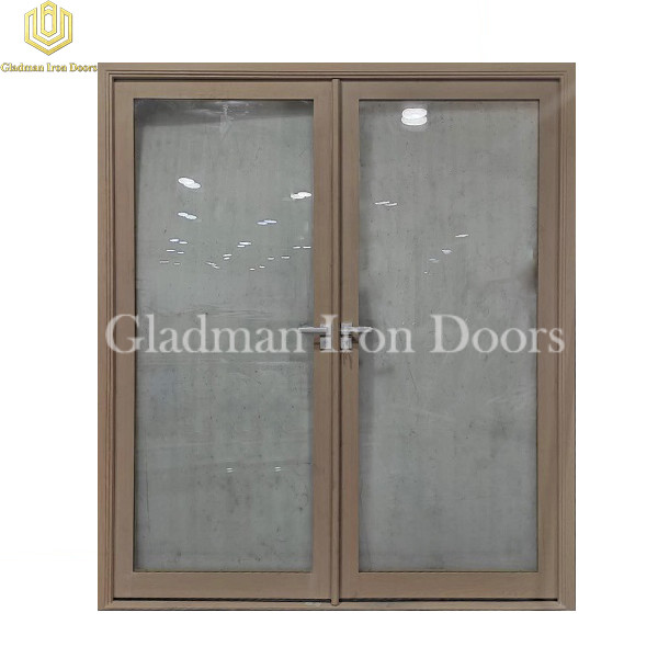 Double Aluminum Front Door With Clear Glass