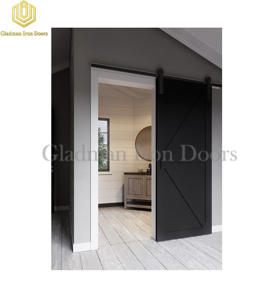 Black Barn Sliding Door In Room