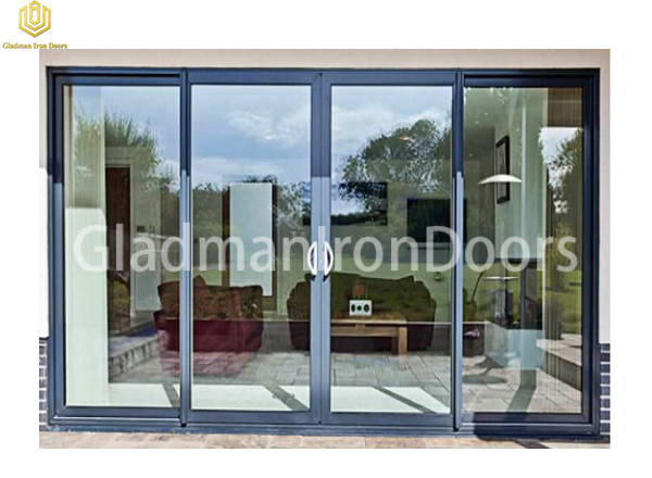 Aluminum Sliding Door Exterior With Tempered Glass High Quality European Design