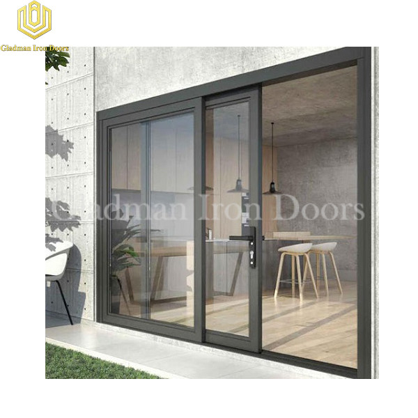 Aluminum Sliding Door With Clear Glass