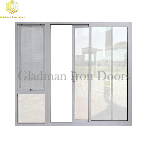 Aluminum Sliding Door W/ a Sidelight With Openable Window