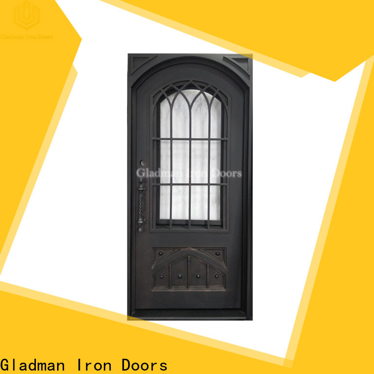 Gladman single iron door design manufacturer for sale