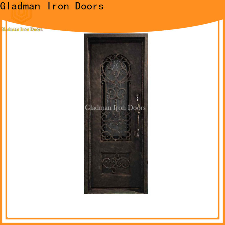 Gladman high quality single iron door design one-stop services for sale