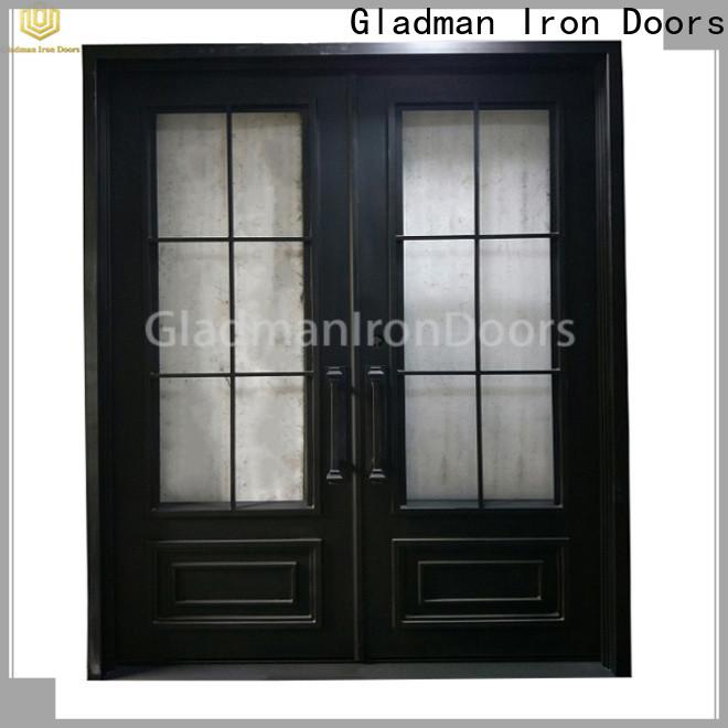 Gladman iron double door design manufacturer for outdoor