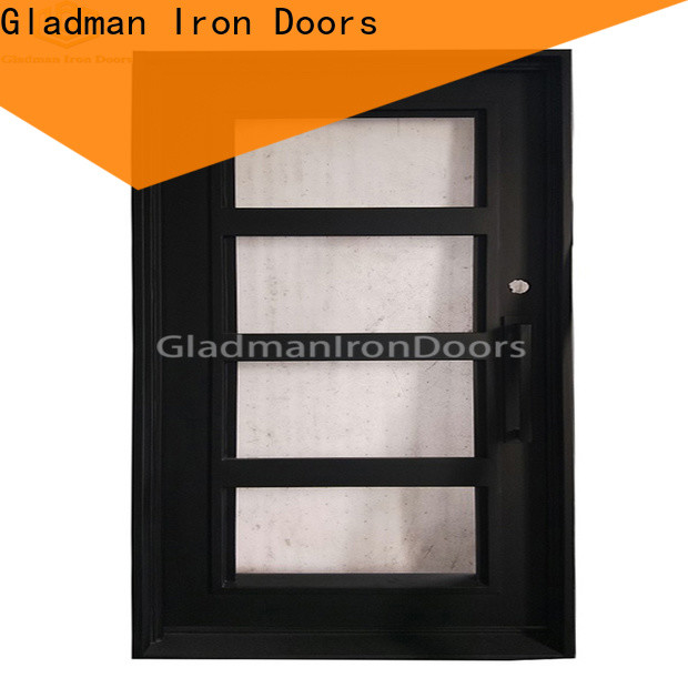 Gladman 100% quality single iron door design one-stop services for sale