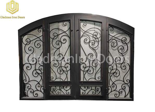 Double Aluminum Front Door