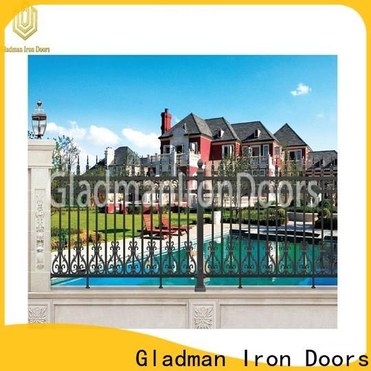 Gladman black aluminum fence trader