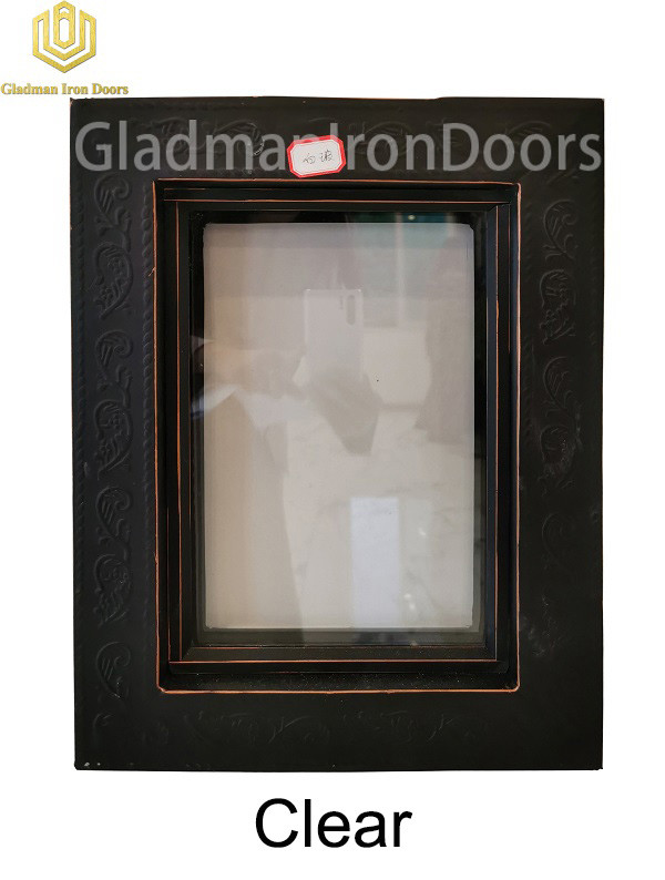 Custom Wrought Iron Door Clear Glass