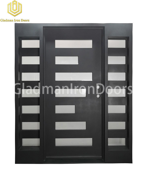 ouble Wrought Aluminum Front Door Square Top W/ Special